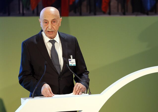 President of the Libyan Council of Deputies Aguila Saleh Issa. (File)