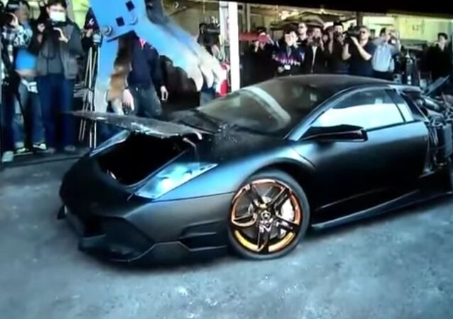 Lamborghini LP-640 has been destroyed by Taiwan government