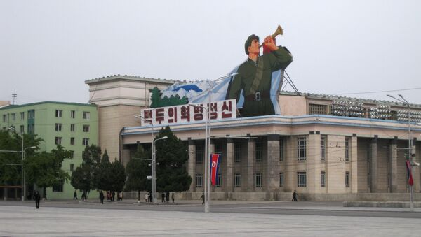 The Central Square named after Korea's founder, Kim Il Seng, in Pyongyang. (File) - Sputnik International