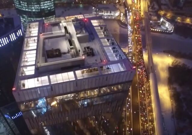 Europe's Highest Ice Rink Drone Footage
