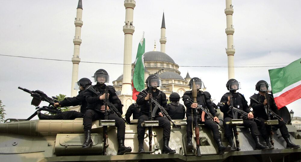Chechen security forces (File)