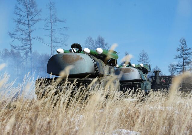 Buk-M1 air defense complexes during training of Air Defense Force