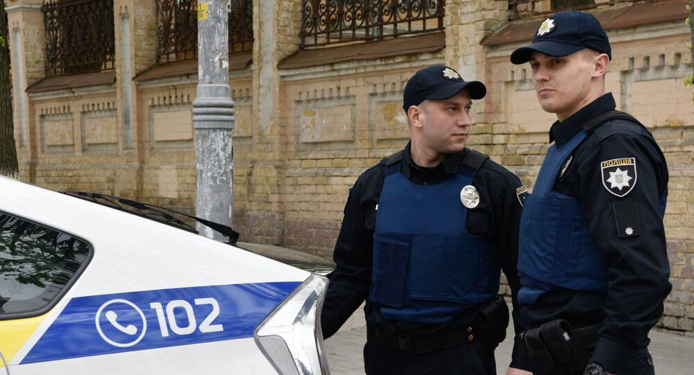 Officers of the Ukrainian police