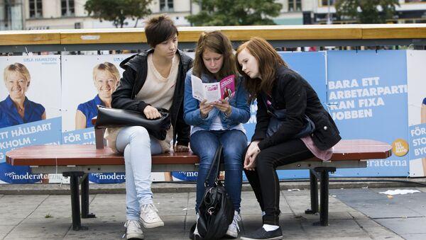 Three young swedish girls - Sputnik International