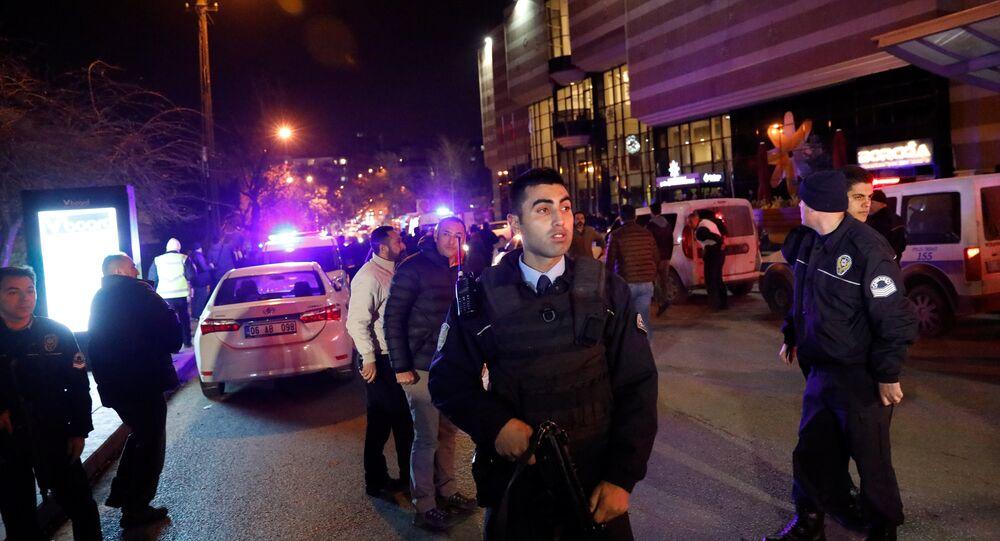 Turkish police secure the area near an art gallery where the Russian Ambassador to Turkey Andrei Karlov was shot, in Ankara, Turkey, December 19, 2016