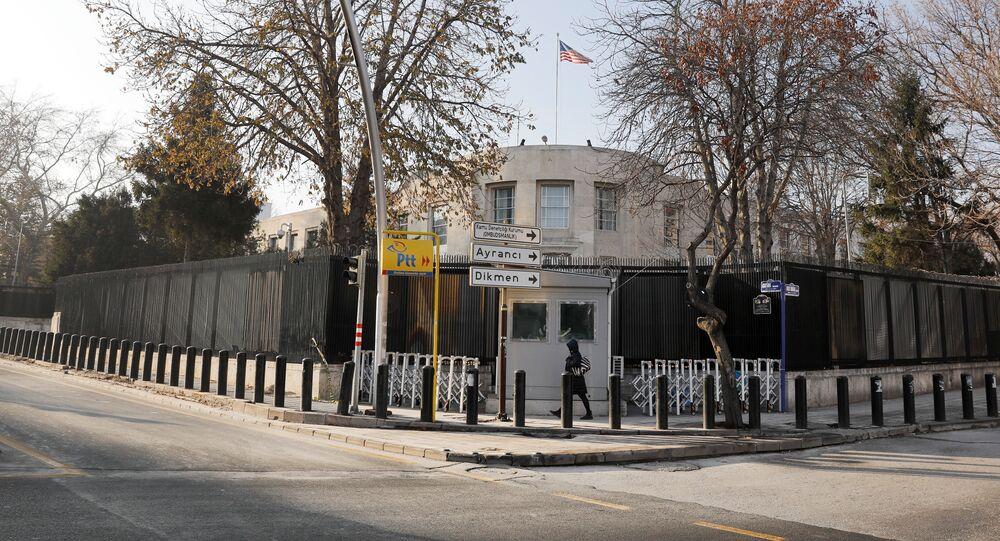 General view of the U.S. Embassy in Ankara, Turkey, December 20, 2016