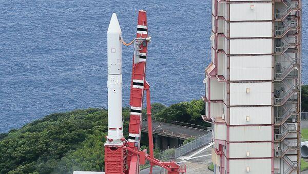Japan Aerospace Exploration Agency's (Jaxa) new solid fuel rocket Epsilon at Jaxa's Uchinoura Space Center at Kimotsuki town in Kagoshima prefecture, Japan's southern island of Kyushu (File) - Sputnik International