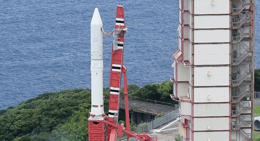 Japan Aerospace Exploration Agency's (Jaxa) new solid fuel rocket Epsilon at Jaxa's Uchinoura Space Center at Kimotsuki town in Kagoshima prefecture, Japan's southern island of Kyushu (File)