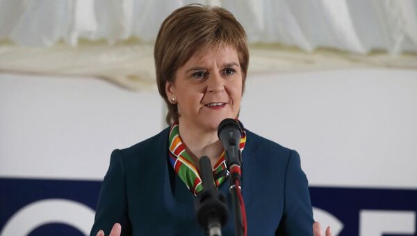 Scotland's First Minister Nicola Sturgeon attends the completion of a 330 million pound deal to buy Britain's last remaining Aluminium smelter in Fort William Lochaber Scotland, Britain December 19, 2016 - Sputnik International
