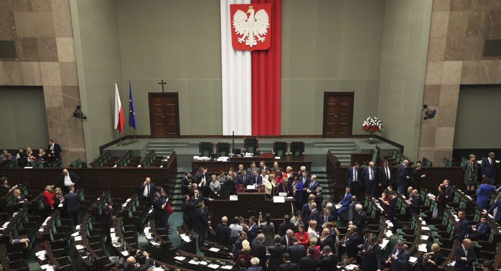 the Parliament in Warsaw, Poland December 16, 2016