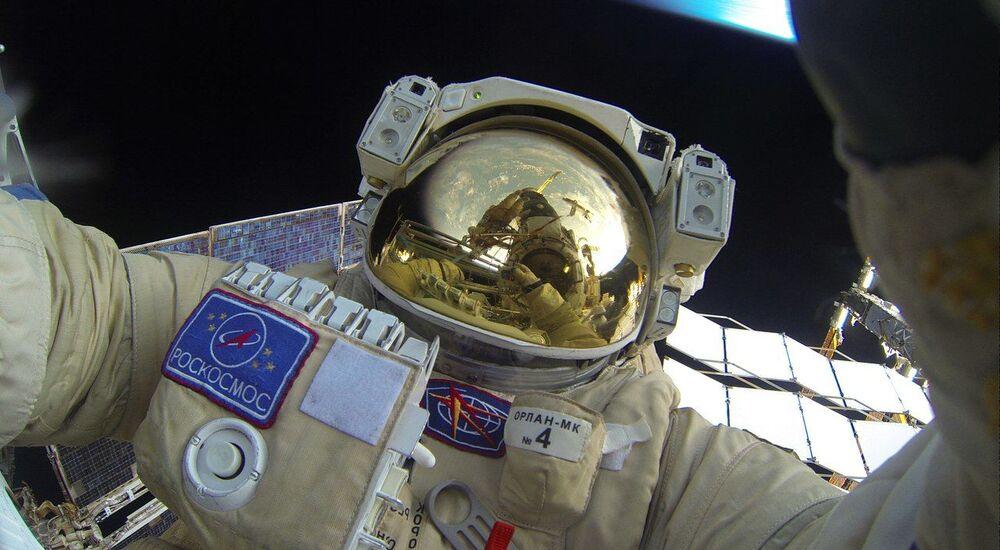 Yuri Malenchenko's selfie