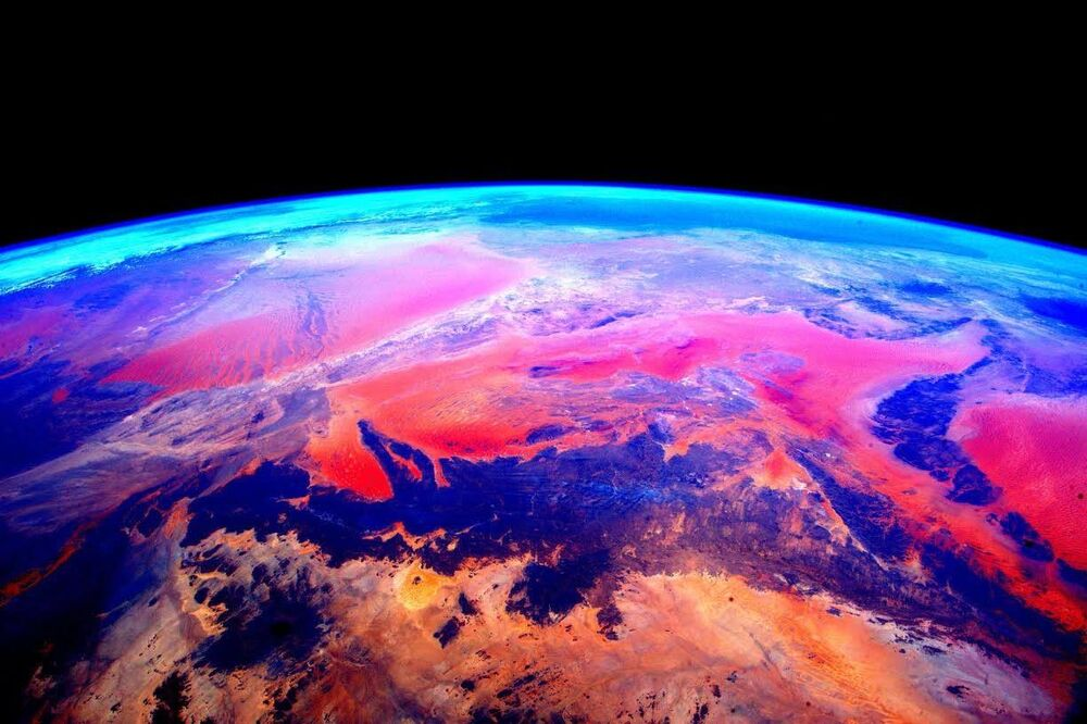 A photo of the Earth shot by Scott Kelly