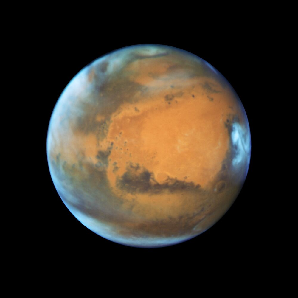 A picture of Mars from Hubble