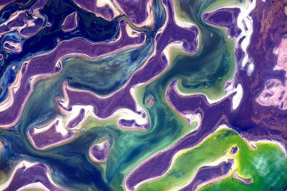 Lake Tengiz in Kazakhstan