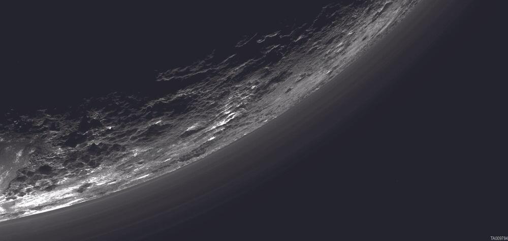 Haze layers above Pluto's limb