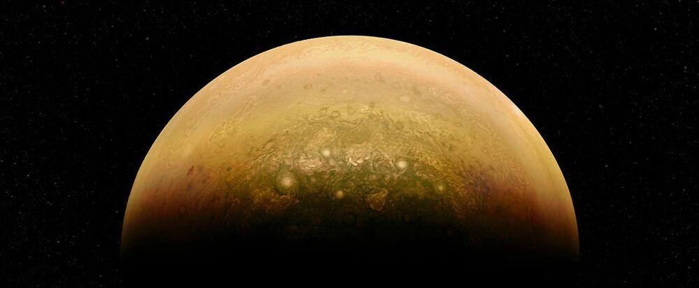 Sunlit part of Jupiter