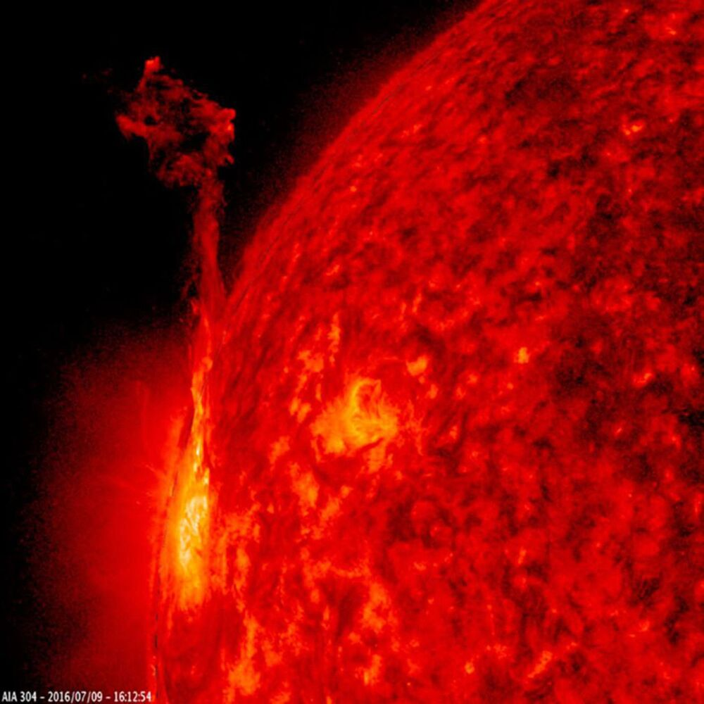 Active region at the edge of the Sun