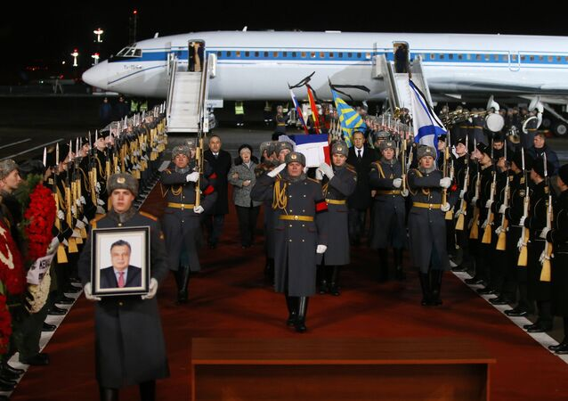 Meeting aircraft with body of Russian Ambassador to Turkey Andrei Karlov