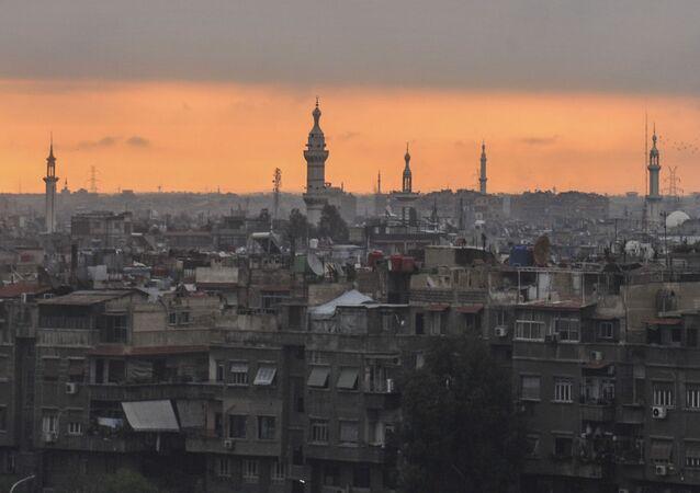 Sunrise on Damascus Syria