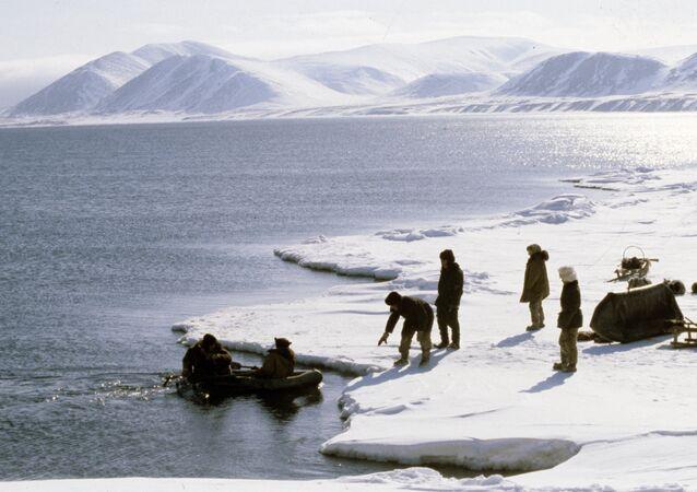 Eskimos from the village of Novoye Chaplino. (File)