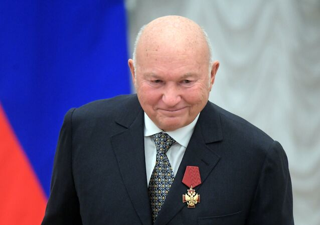 Ex-mayor of Moscow Yuri Luzhkov at the ceremony of giving state decorations in Kremlin by the Russian President Vladimir Putin. (File)