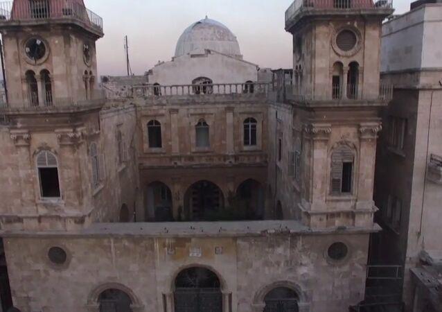 Aleppo's Saint Elias Cathedral Drone Footage