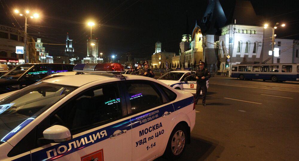 Law enforcement officers on Komsomolskaya Square. File photo