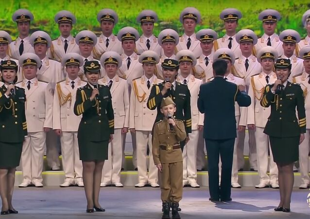 Alexandrov Ensemble performing together with members of the PLA Choir