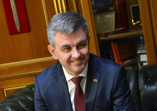 President of the unrecognized republic of Transnistria Vadim Krasnoselsky