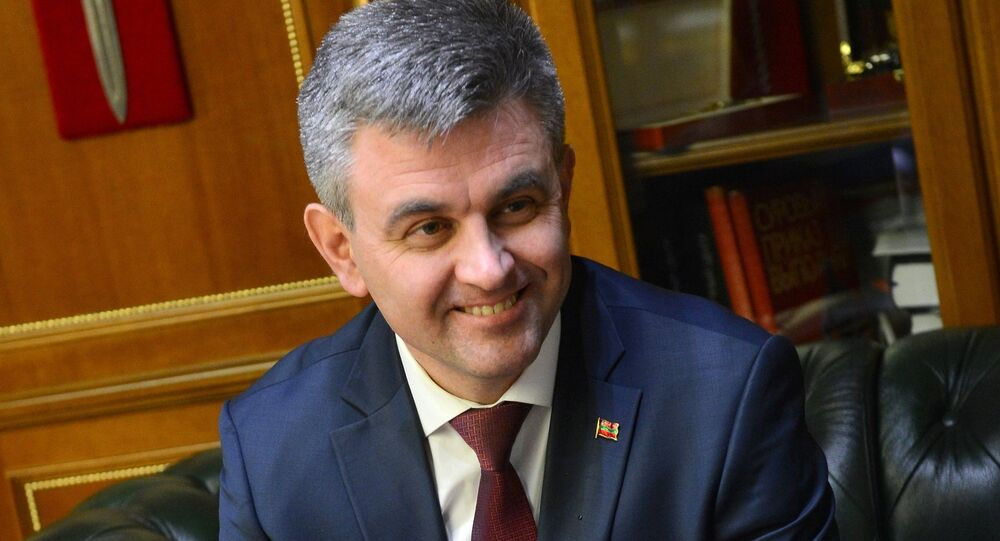 President of the unrecognized republic of Transnistria Vadim Krasnoselsky
