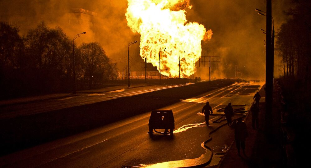 Gas pipeline explosion (File)