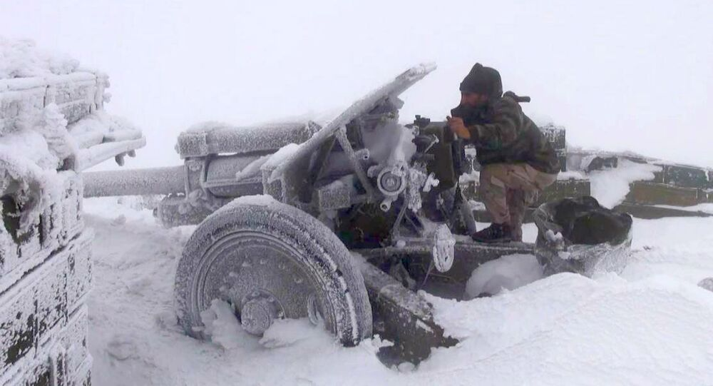 Syrian Army in snow