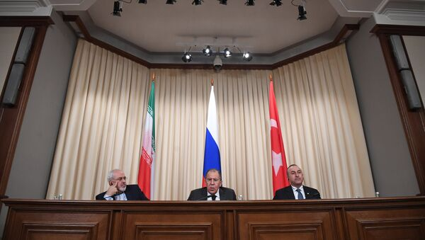News conference by foreign ministers of Russia, Iran and Turkey - Sputnik International