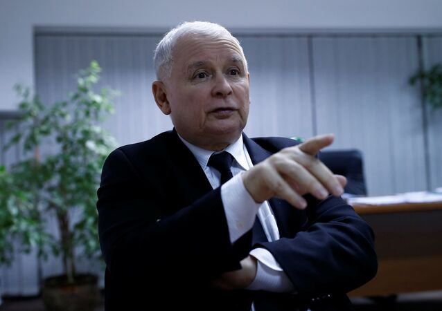 Leader of Law and Justice party Jaroslaw Kaczynski speaks during an interview with Reuters in party headquarters in Warsaw, Poland December 19, 2016