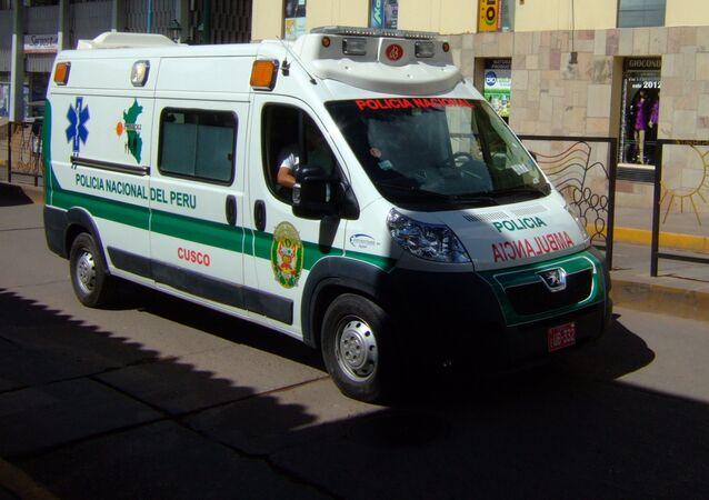 Peru police ambulance
