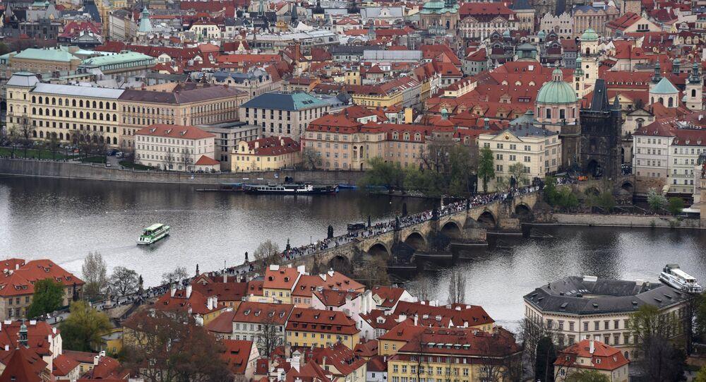 Karluv Most (Charles Bridge) across the Vltava River in Old Prague