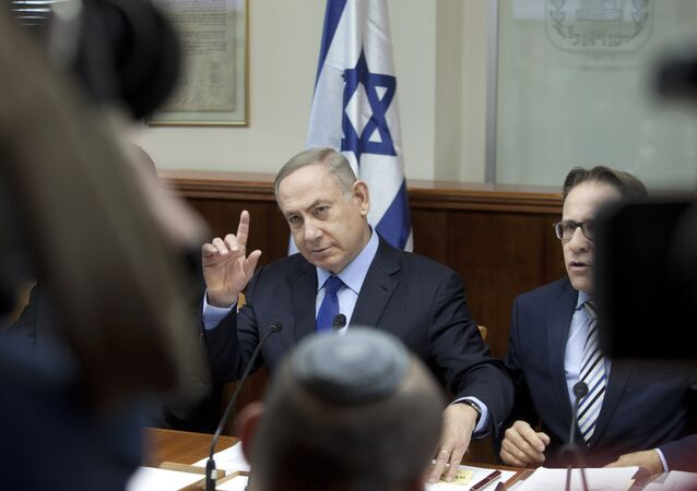 sraeli Prime Minister Benjamin Netanyahu chairs the weekly cabinet meeting in Jerusalem on December 25, 2016