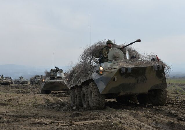 BTR-82A armored personnel carriers