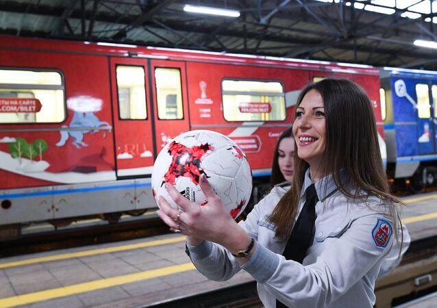 Moscow metro presents FIFA Confederations Cup 2017 train