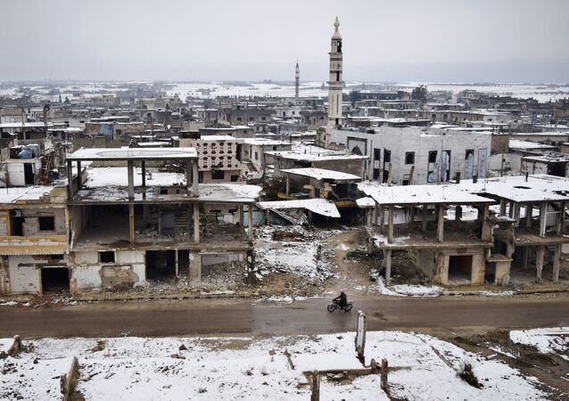 Snowfall in Homs Province