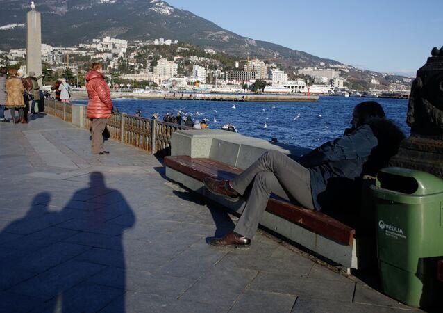 The promenade in Yalta