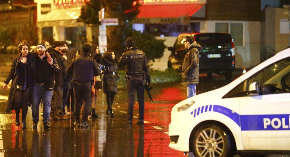 Police secure area near an Istanbul nightclub, Turkey, January 1, 2017.