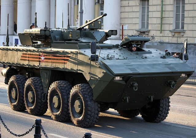 Wheeled IFV BMP-K K-17 VPK-7829 on unified wheeled combat platform Bumerang