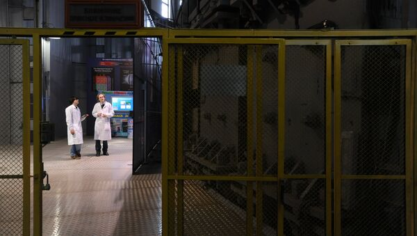 Accelerator hall at the high-energy physics laboratory of the Joint Institute for Nuclear Research in Dubna - Sputnik International