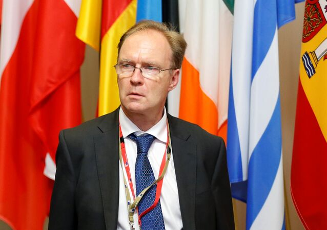 Britain's ambassador to the European Union Ivan Rogers (File)