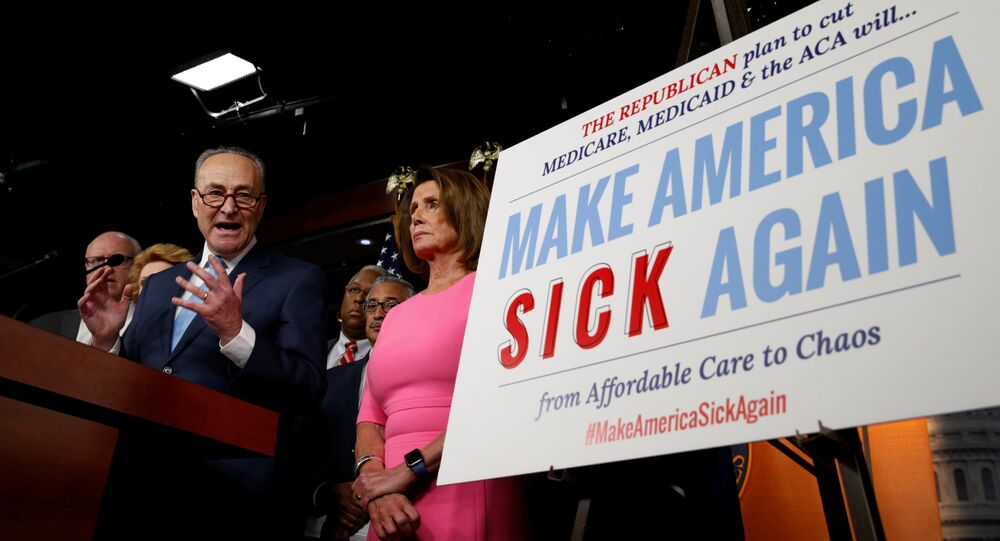 Senate Democratic Leader Chuck Schumer and House Democratic Leader Nancy Pelosi speak following a meeting with U.S.President Barack Obama on congressional Republicans' effort to repeal the Affordable Care Act on Capitol Hill in Washington, U.S., January 4, 2017