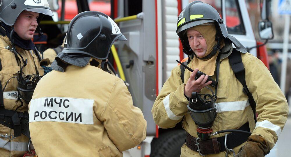 Firefighting exercise in Kazan