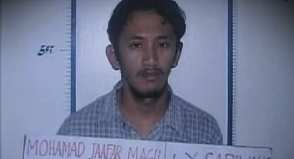Mohammad Jaafar Sabiwang Maguid, a pro-Daesh Islamist militant accused of dozens of violent crimes.