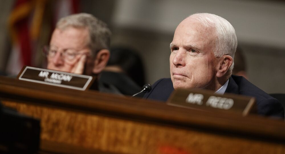 John McCain, one of three US senators to propose the Honest Ads Act