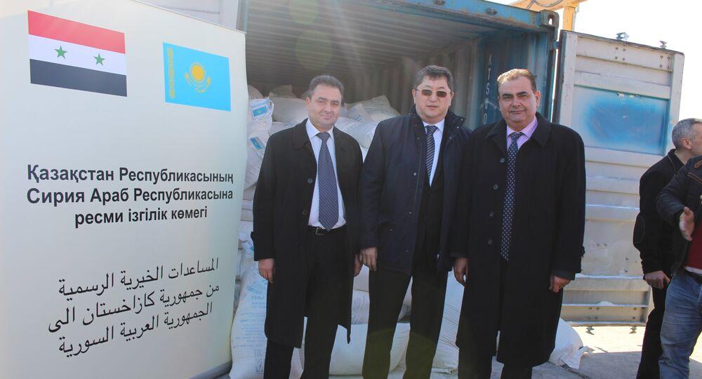 Kazakhstan has delivered humanitarian aid to Tartus Port on the Mediterranean coast of Syria